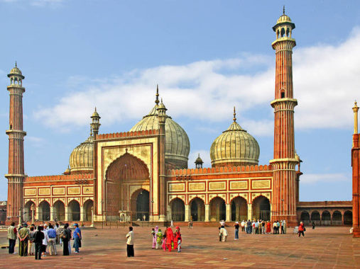 Jama Masjid, Keliones i Indija
